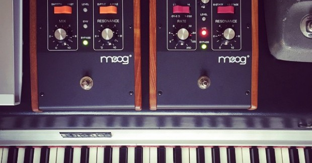 Recipe for a funky Rhodes. #moog #keyboards #gearporn #rhodes