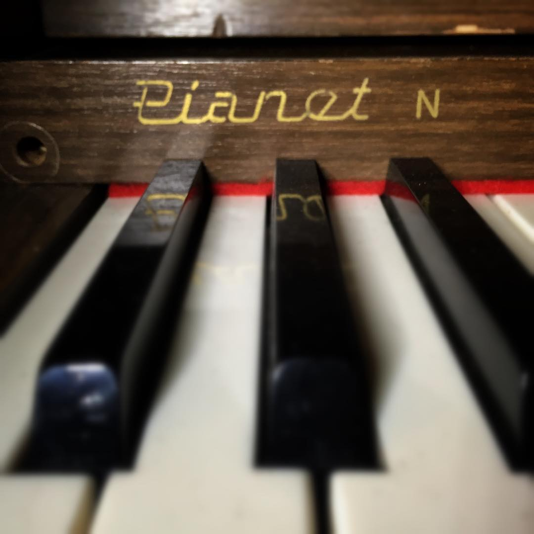 "The Hohner Pianet is also know as a ""Bitchin' Wurly"" because it sounds like a Wurlitzer with a bite. It's not as popular as the Hohner Clavinet but it's pretty funky"