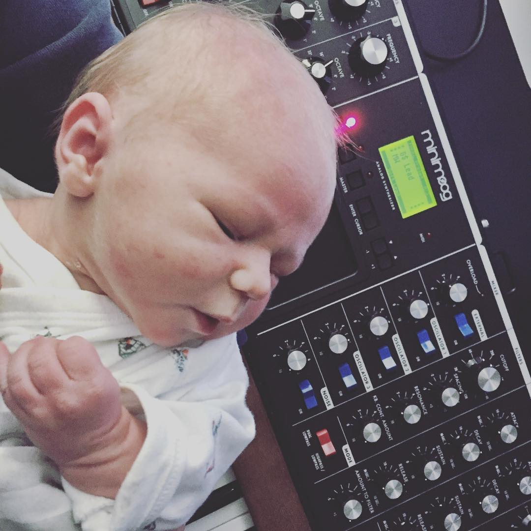 I'm not going to soothe my newborn son with just any old white noise. 🎹@moogmusic