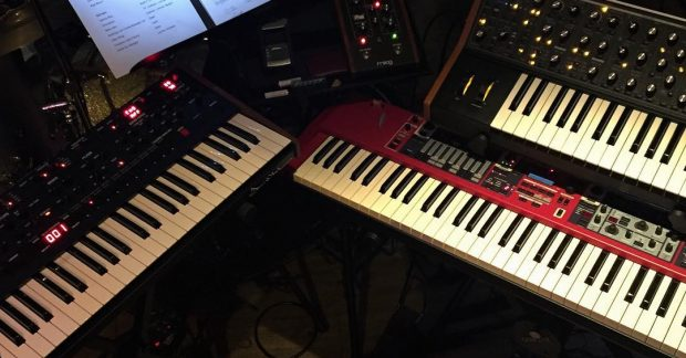Had a blast christening the OB-6 last night @dsisequential @moogmusic @nordkeyboards @riverwalknashua