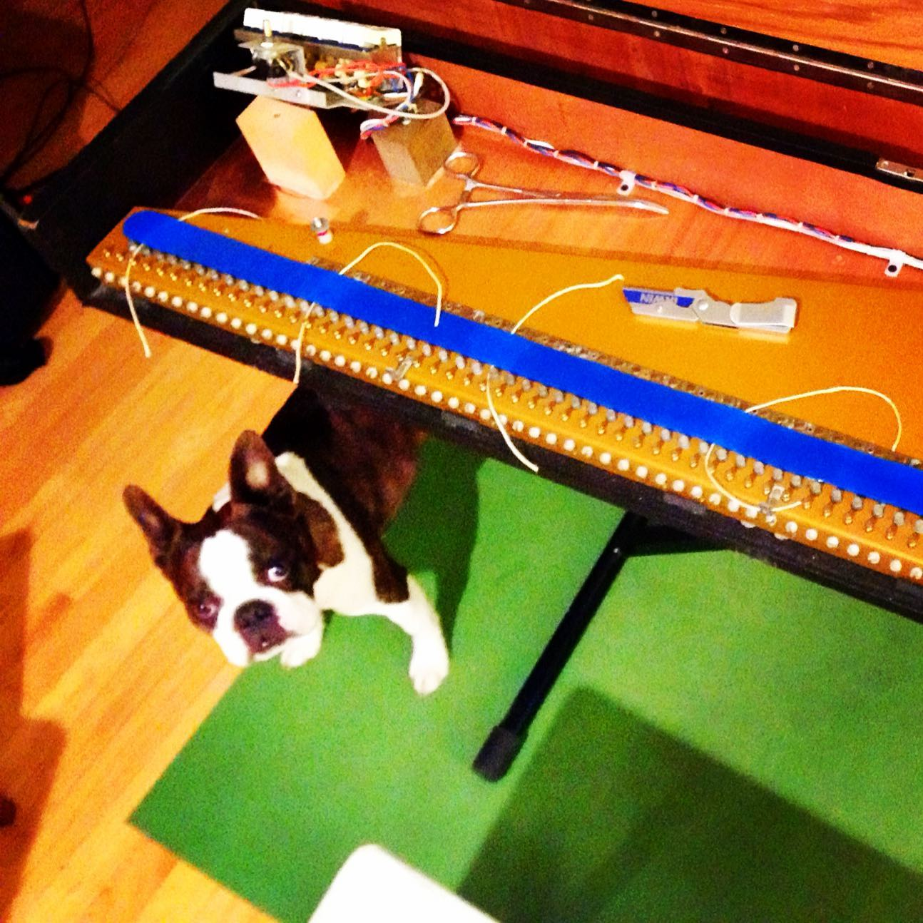 That time Miles helped me restring my Clavinet