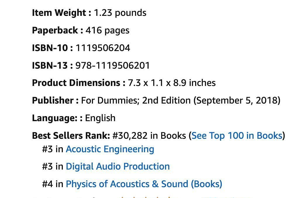 Logic Pro X For Dummies, Best-Seller in Physics of Acoustics & Sound