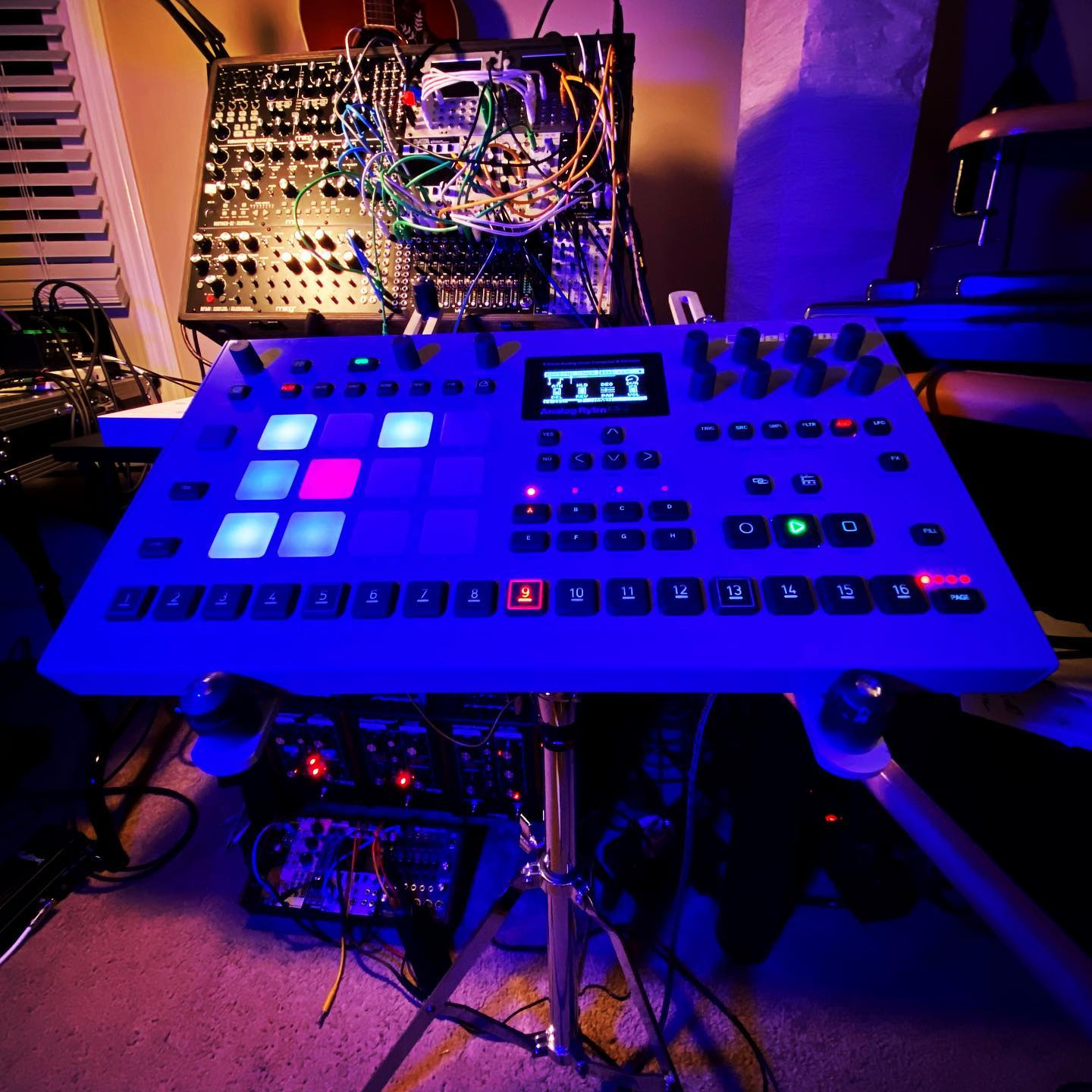 Just got my Elektron Analog Rytm back from repairs on the day they announced a new version at a new higher price. Yikes! Glad I got mine when I did, even though I love the new color. It's an amazing sounding drum machine but it's not my favorite workflow. It'll never be my main machine but I'll never get rid of it. Happy to have it back!