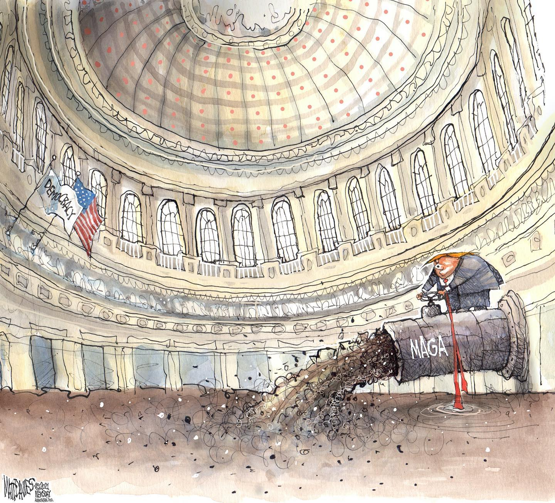 25th for the 45th. #25thamendmentnow Cartoon by Matt Davies.