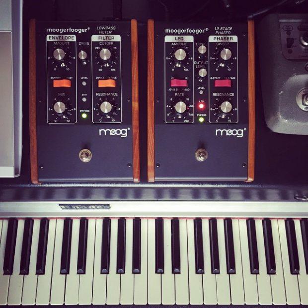Recipe for a funky Rhodes. #moog #keyboards #gearporn #rhodes