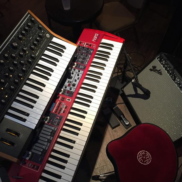 I hope you're having as much fun on St. Patrick's Day as I am! #nord #nordstage #moog #moogsub37