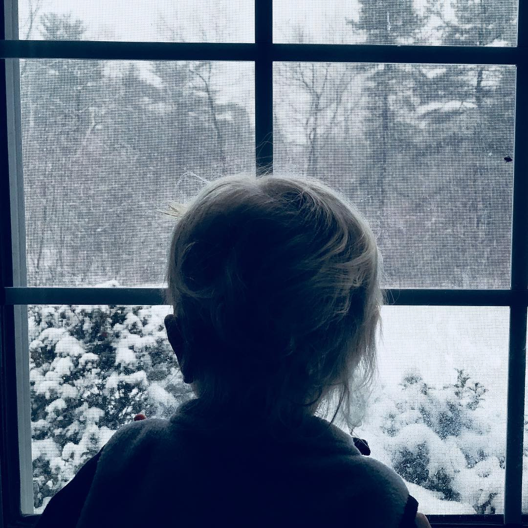 Watching the snow show. ❄️❤️