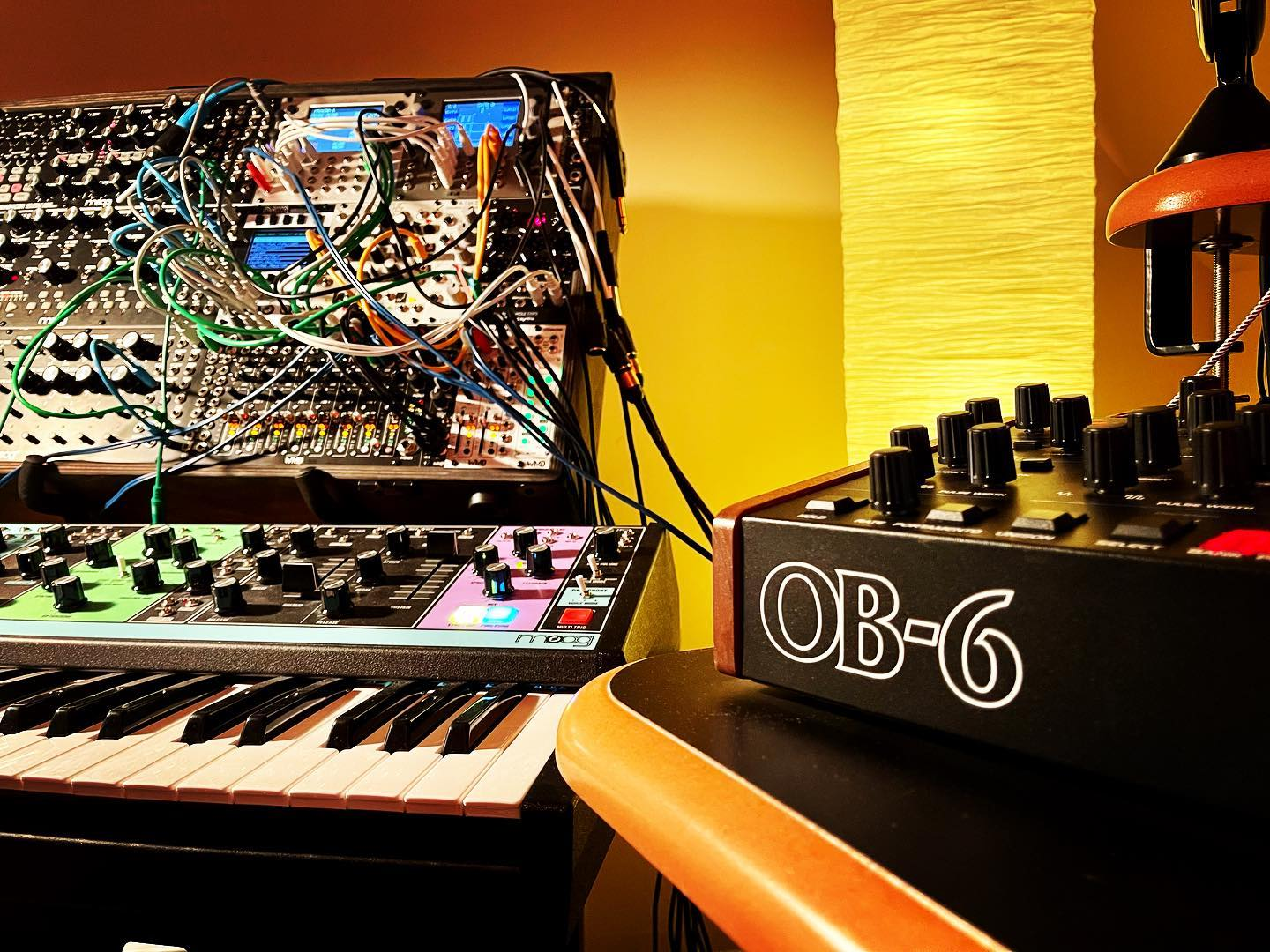 Some days are like...Give me longer than 60 seconds with my synths, please!  #moogmatriarch #ob6 #eurorackmodular