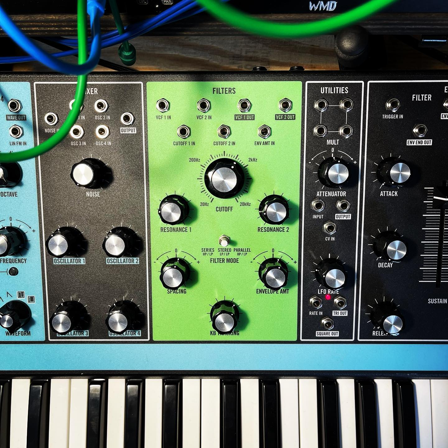 Happy St. Patrick's Day! ☘️ Today, everything is going through my Moog Matriarch's green filter. #moogmatriarch