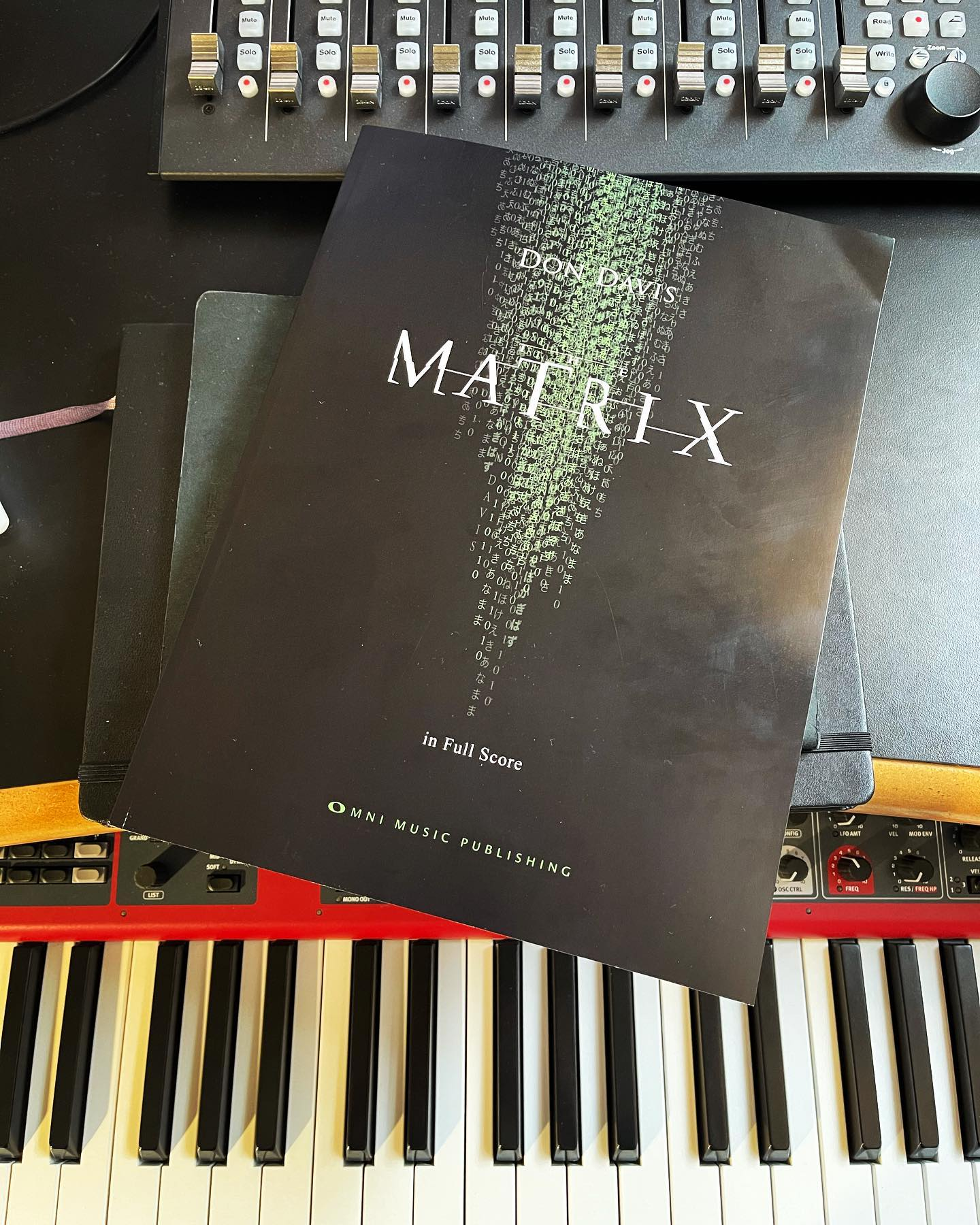 The Matrix in full score by Don Davis.
