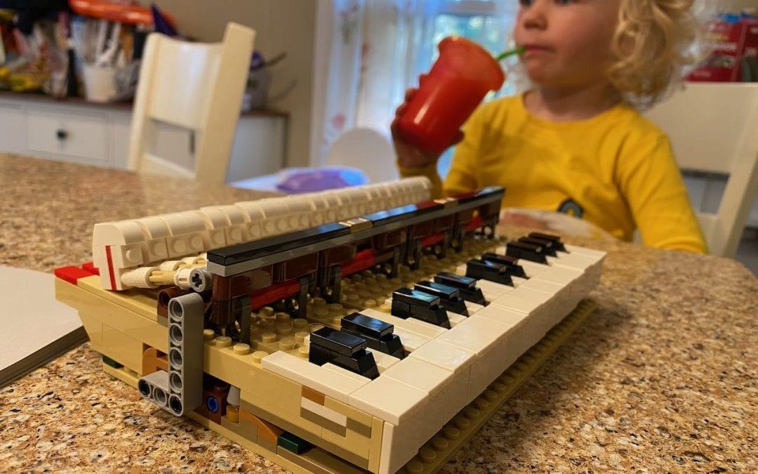 The Lego grand piano Desmond and I built
