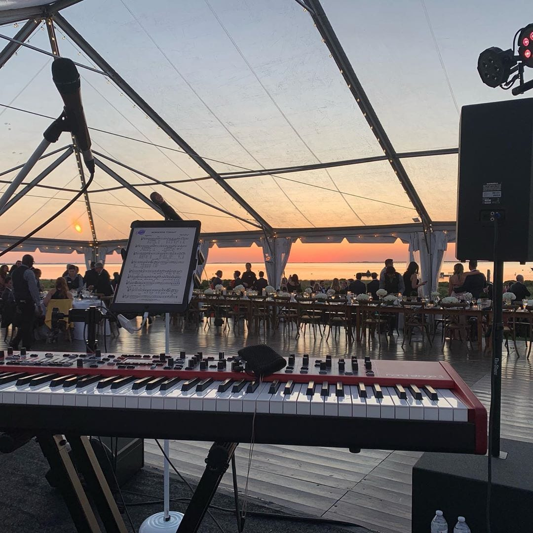 Gorgeous night for a gig in Nantucket with @hotmessboston