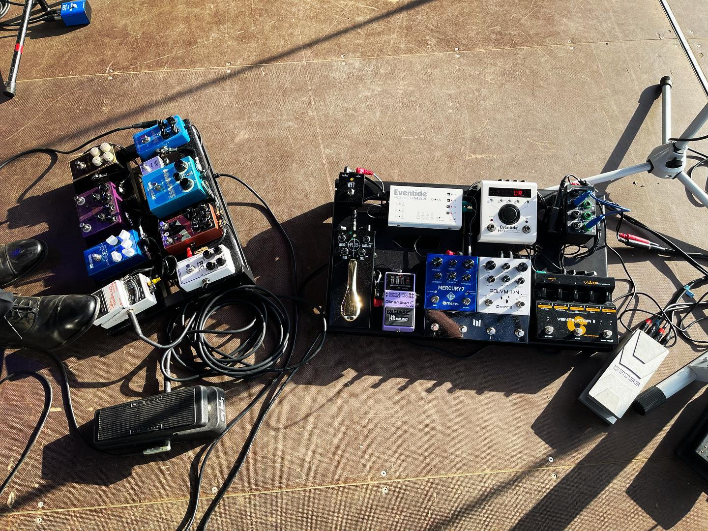 Pedalboard power!  It's so good to be playing live again!